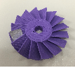 Figure 2. The 3D printed axial turbine wheel (printed in PLA)