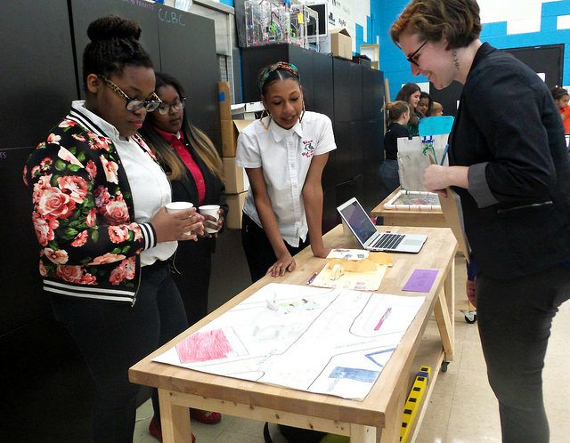WHS team presents project to FabSLAM judge
